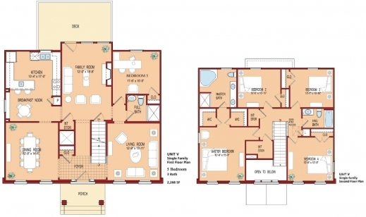 Gorgeous 5 Bedroom House Floor Plan Plans Five Bedroom Building Plan Image