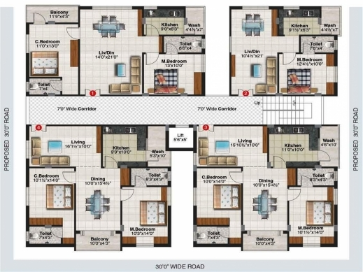 Gorgeous 700 Sq Ft Home Plans Uk Kerala House Plans 700square Feet Pic