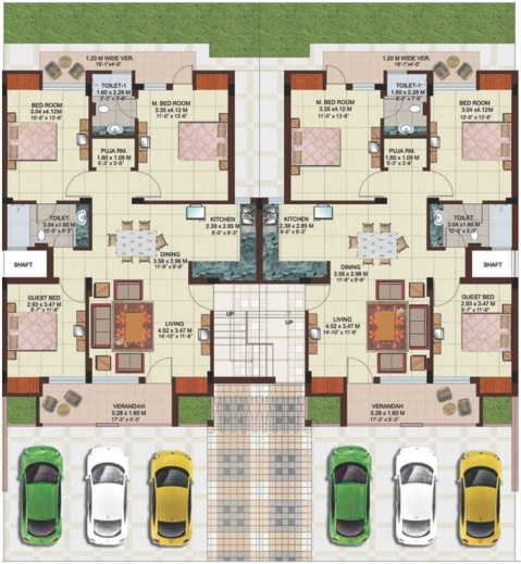 Gorgeous Ansal Housing G 2 Residential Building Floor Plan Image