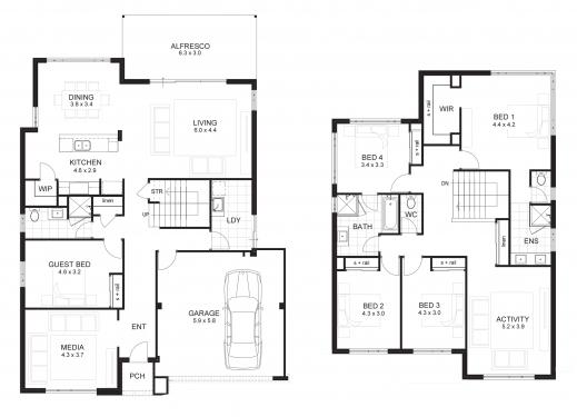 Gorgeous Fresh Modern 4 Bedroom House Floor Plans Decorating Ideas Modern 4 Bedroom Floor Plans Picture