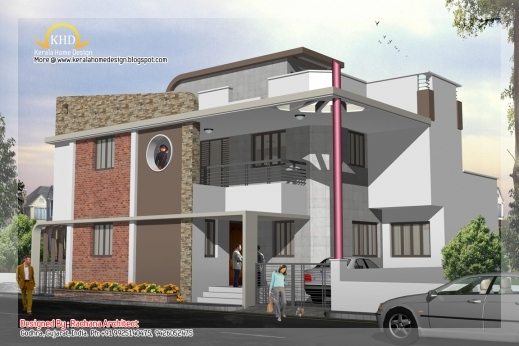 Incredible 3 Story House Plan And Elevation 2670 Sq Ft Keralahousedesigns 3story House Plan & Elevation Images