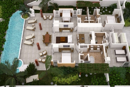 Incredible 4 Bedroom Beach House Plans Planskill 3d 4 Bedroom House Plans Image