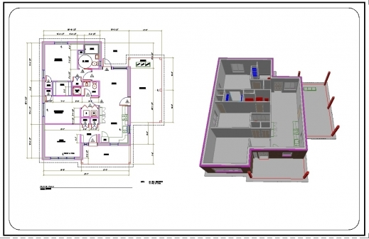 Auto Cad 2d House Plans With Dimensions House Floor Plans