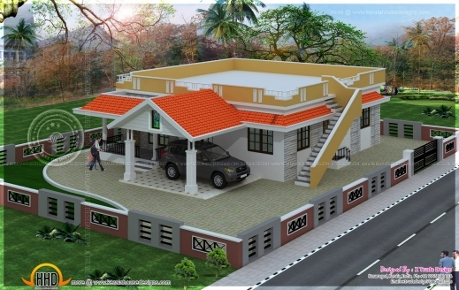 Incredible Single Floor House Plans And Elevations Single Floor House Plans Two Bedroom House Plan With Elevation Pics