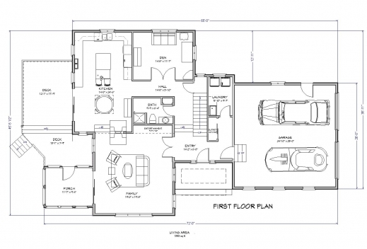 Outstanding Floor Plan For A Small House 1150 Sf With 3