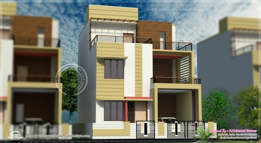 Inspiring 3 Story House Plan Plans 3story House Plan & Elevation Image