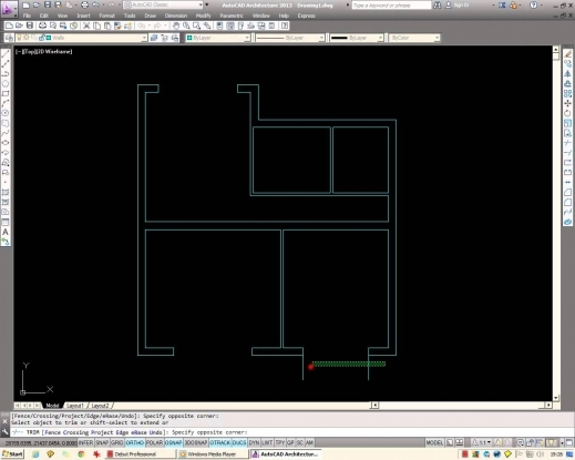 Inspiring Autocad How To Draw A Basic Architectural Floor Plan From Scratch Auto Cad 2d House Plans With Dimensions Picture