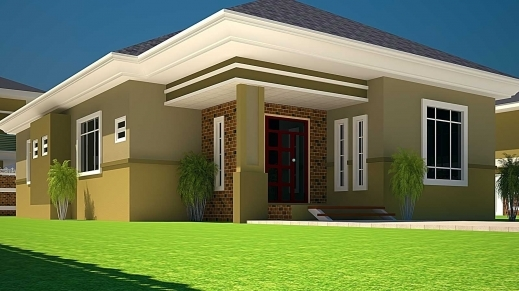 Inspiring Elegant House Plans Ghana 3 Bedroom House Plan For A Half Plot In A 3bedroom Home Plan On A Half Plot Picture