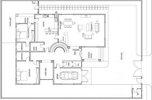 Inspiring Simple Ground Floor House Plan House Of Samples Plan House Ground Floor Picture