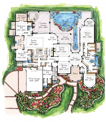 Inspiring Small Luxury House Plans Designs Arts Custom Luxury Home Floor Plans Photo