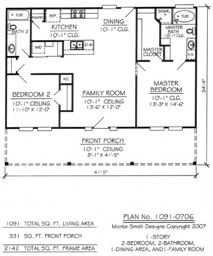 Marvelous 1 Bedroom House Plans Glitzdesign 1 Room House Plans Pic