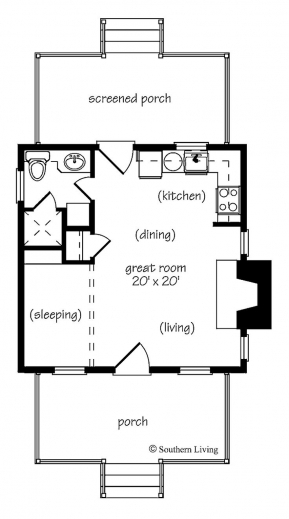 Marvelous 1000 Ideas About 1 Bedroom House Plans On Pinterest Tiny House 1 Room House Plans Pics