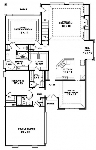 Marvelous 3 Bedroom Single Floor House Plans Simple 3 Bedroom House Plans Single Floor Pictures