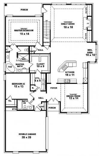 Marvelous 3 Bedroom Single Floor House Plans Simple 3 Bedroom House Plans Single Floor Pictures
