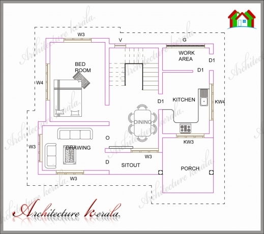 Marvelous A Small Kerala House Plan Architecture Kerala Kerala House Plan And Elevation Dimension Photo