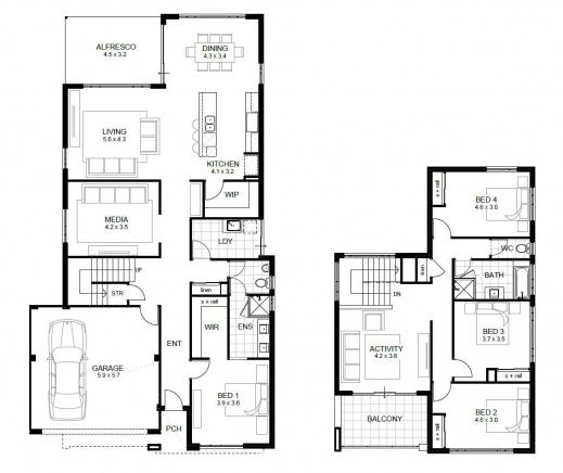 Marvelous Four Room House Plan Guest Plans First Floor Design Four Room Four Rooms House Plans Photos