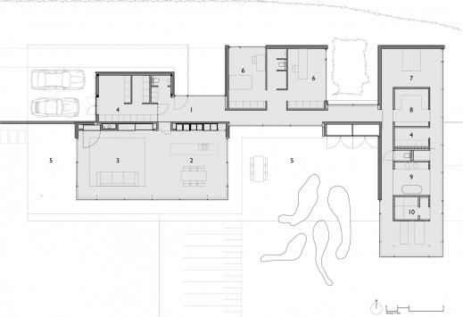 Marvelous House Faes Hvh Architecten Keribrownhomes Single Story Modern House Floor Plans Pics