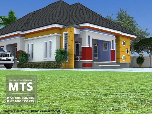 Marvelous Residential Homes And Public Designs 3 Bedroom Bungalow A 3bedroom Home Plan On A Half Plot Picture