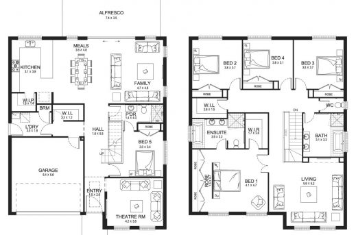 Outstanding 1000 Images About 2 Story On Pinterest Two Storey House Plans Double Storey Floor Plans Pic