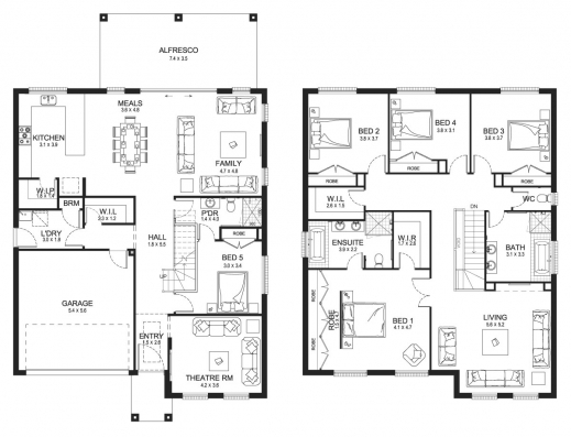 Outstanding 1000 images about 2 story on pinterest two for Floor plan of a two storey house
