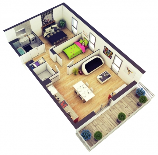 Outstanding 25 More 2 Bedroom 3d Floor Plans Amazing Architecture Magazine 2 Bedroom 3d Floor Plan Photo