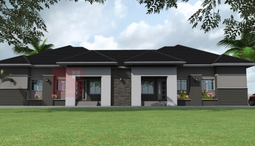 Amazing residential homes and public designs 3 bedroom for Twin bungalow plans
