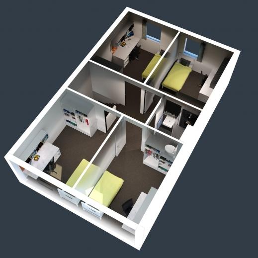 Outstanding Beautiful 2 Bedroom House Plan 2 Design 2 Bedroom House Plans 2bedroom House Floor Plan In 3D Photos