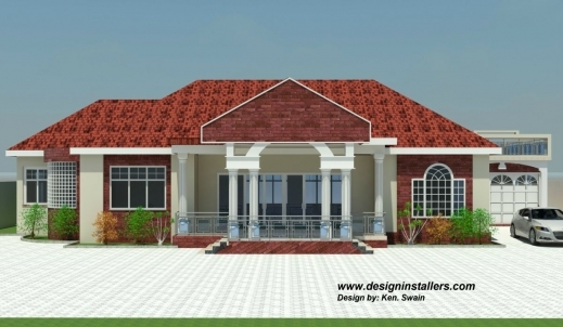 Outstanding Designed Home Plans A 3bedroom Home Plan On A Half Plot Images