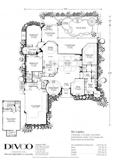Outstanding Floor Plans Custom Home Builder Naples Florida Divco Floor Plan Custom Luxury Home Floor Plans Images