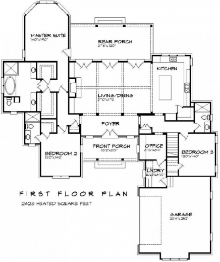 7 room house plans house floor plans for Rambler floor plans with bonus room