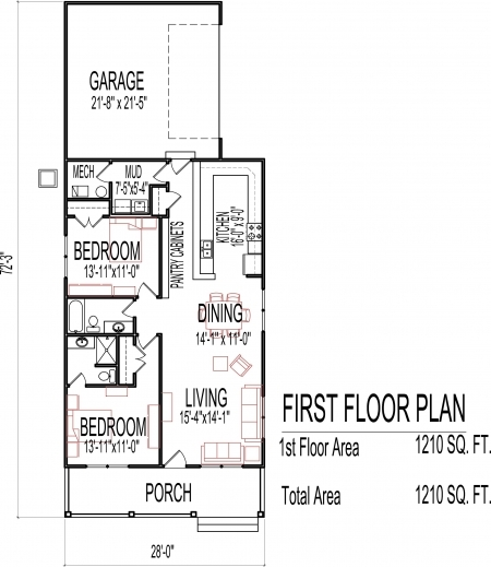 Remarkable 1000 Images About House Plans On Pinterest House Plans Two Simple 3 Bedroom House Plans Single Floor Photo