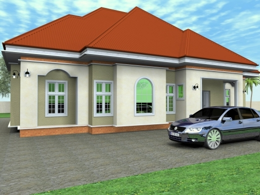 Remarkable 3 bedroom house plans and designs in nigeria for Nigeria building plans and designs