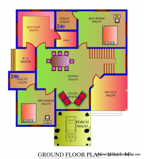 Kerala House Plans 700square Feet House Floor Plans