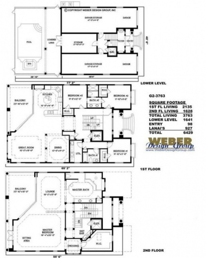 Remarkable Amazingplans House Plan G2 3763 Ashley Luxury Spanish G 2 Residential Building Floor Plan Pic