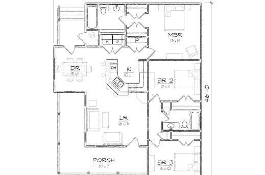 House Plans For Corner Houses House Floor Plans
