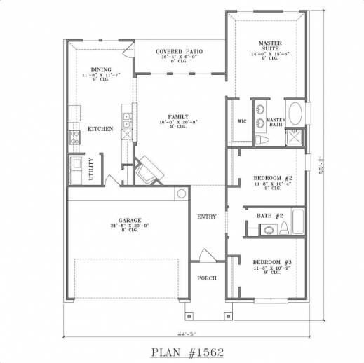 Remarkable one story house plans with open floor design 3 bedroom open floor plan