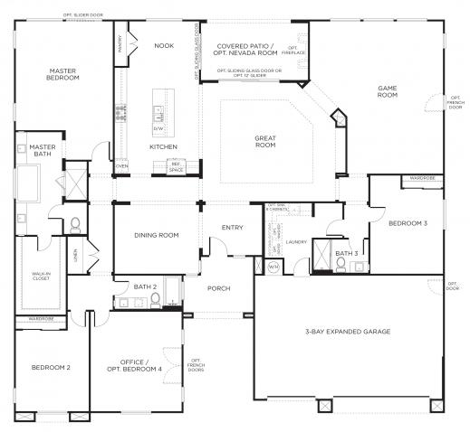 Remarkable Single Story Design House Plans Of Samples Under 1500 Sq Ft Modern Single Story Modern House Floor Plans Pic