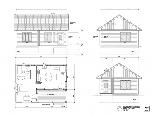 Stunning 1 Bedroom House Plans Glitzdesign 1 Room House Plans Picture