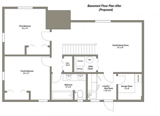 Stunning 1000 Ideas About Basement Floor Plans On Pinterest House Design House Basement Plans Pics
