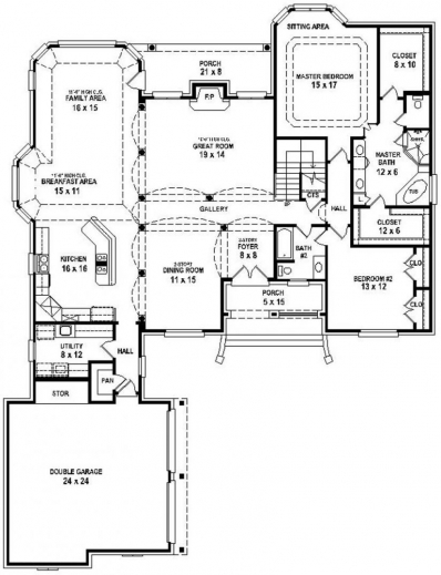 Stunning 1000 Images About Open Floor Plan Houses On Pinterest Open Plan 3 Bedrooms Images