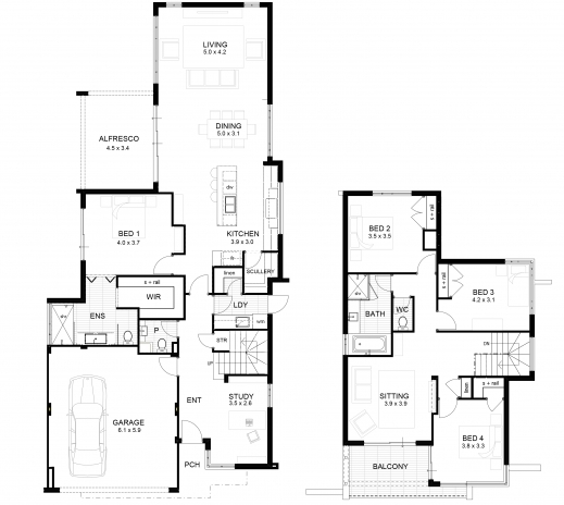 Stunning 17 Best Images About P L A N S On Pinterest Home Design House Double Storey Floor Plans Photos