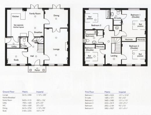 Stunning 4 bedroom house floor plans modern 17 one story 5 for Single story 4 bedroom modern house plans