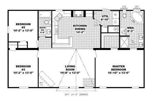 Stunning ranch house plans simple alternate basement floor for Ranch floor plans with basement