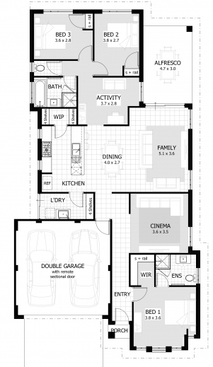 Stylish 3 Bedroom House Plans Amp Home Designs Celebration Homes 3bedroom House Plan Pic