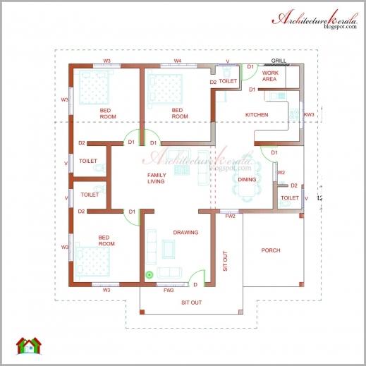 Stylish Architecture Kerala Beautiful Kerala Elevation And Its Floor Plan Single Floor House Plan And Elevation Kerala Pic