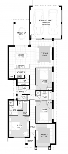 Stylish Elegant House Plans Ghana 3 Bedroom House Plan For A Half Plot In A 3bedroom Home Plan On A Half Plot Pictures