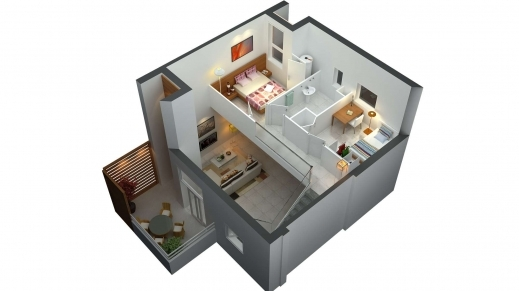 Stylish Floor Plans 2 Bedroom Also Split Level House Designs House Floor 2bedroom House Floor Plan In 3D Pics