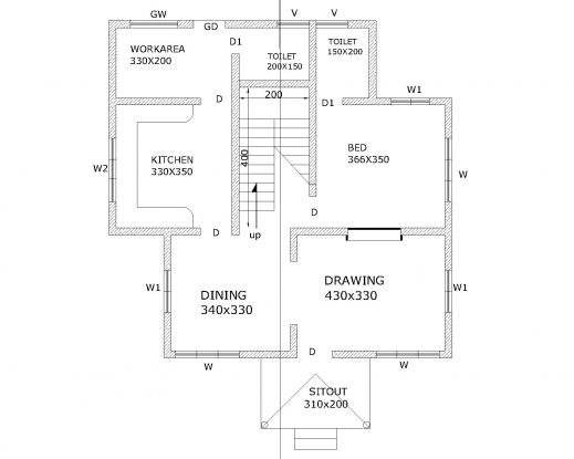 How to draw a house plan by hand house floor plans for How to draw architectural plans by hand