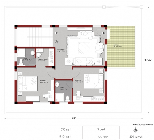 Best indian house plans for 1500 square feet houzone for Best home designs under 1500 square feet
