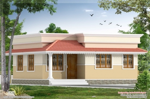 Stylish Kerala Style 2 Bedroom Small Villa In 740 Sqft